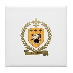 LAMONTAGNE Family Crest Tile Coaster