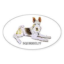 Squirrel Alert Fox Terrier Decal