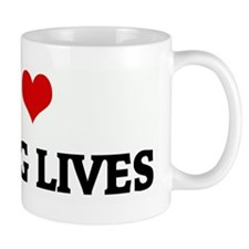 I Love SAVING LIVES Mug