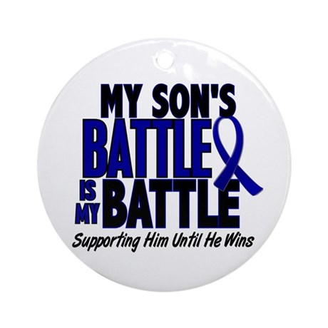 My Battle Too 1 BLUE (Son) Ornament (Round)