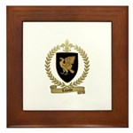 LALANDE Family Crest Framed Tile
