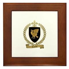 LALANDE Family Crest Framed Tile
