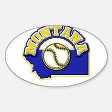 Montana Baseball Oval Decal