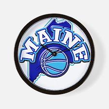 Maine Basketball Wall Clock