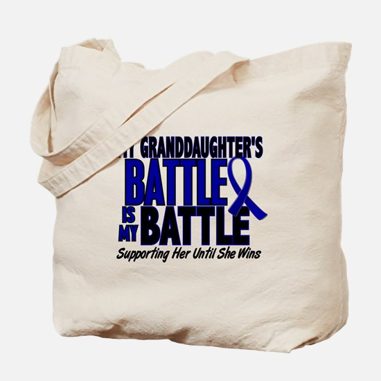 My Battle Too 1 BLUE (Granddaughter) Tote Bag