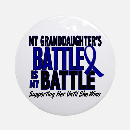 My Battle Too 1 BLUE (Granddaughter) Ornament (Rou