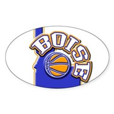 Boise Basketball Oval Decal