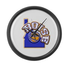 Boise Basketball Large Wall Clock