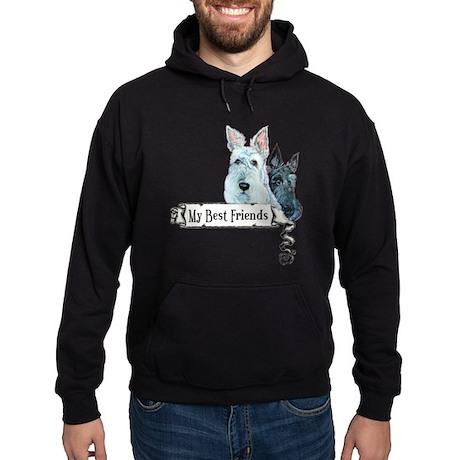 Scottish Terrier Best Friends Hoodie (dark)