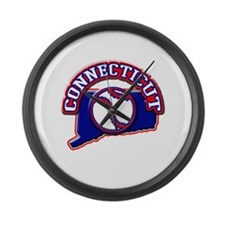 Connecticut Baseball Large Wall Clock