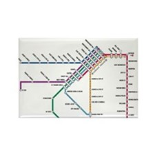 SF MUNI Map (with text) Rectangle Magnet