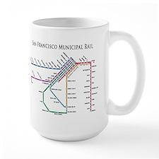 SF MUNI Map (with text) Mug