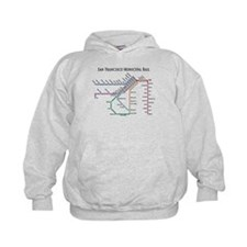 SF MUNI Map (with text) Hoodie