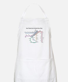 SF MUNI Map (with text) BBQ Apron