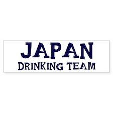 Japan drinking team Bumper Bumper Sticker