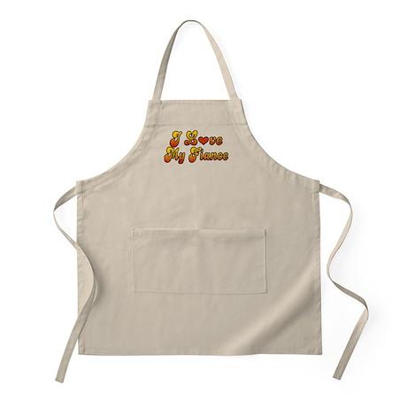 I Love My Fiance BBQ Apron