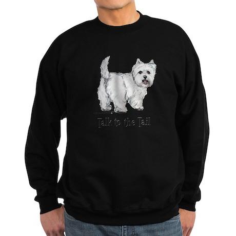 Westie Talk to the Tail Sweatshirt (dark)