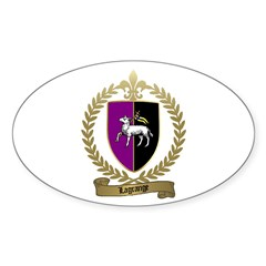 LAGRANGE Family Crest Oval Decal