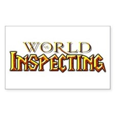 World of Inspecting Rectangle Decal