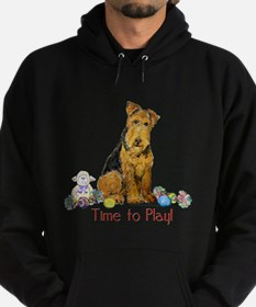 Time to Play Airedale! Hoodie (dark)