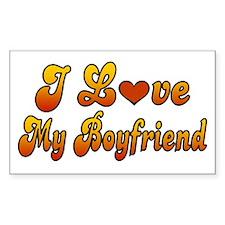 I Love My Boyfriend Rectangle Decal