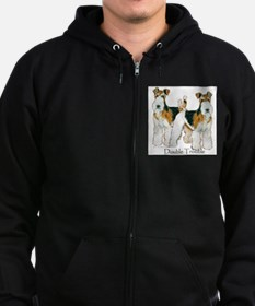 Double Trouble Wire Fox Terri Zip Hoodie