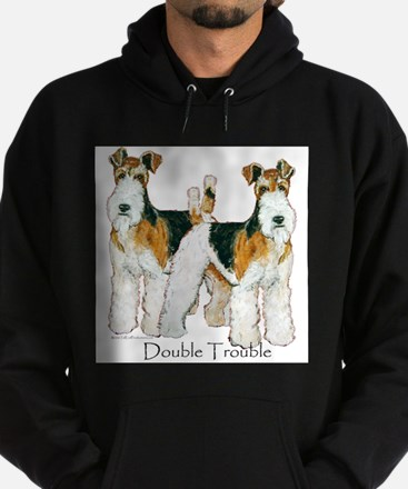 Double Trouble Wire Fox Terri Hoodie (dark)