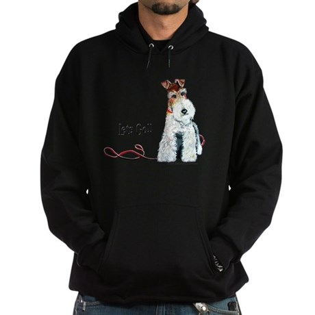 Fox Terrier Walk Hoodie (dark)