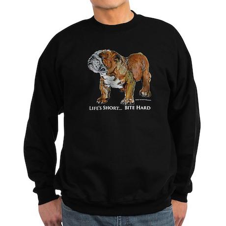 Bulldog's Life Motto Sweatshirt (dark)