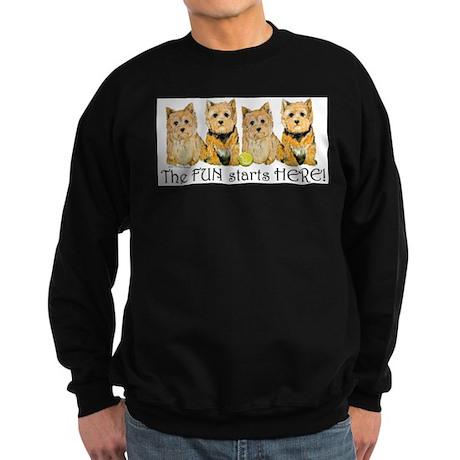 Norwich Terrier Fun Sweatshirt (dark)
