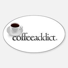 Coffee Addict Oval Decal