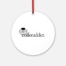 Coffee Addict Ornament (Round)