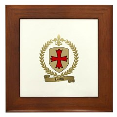 LACROIX Family Crest Framed Tile