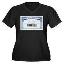 Cool Political Women's Plus Size V-Neck Dark T-Shirt