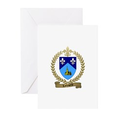 LACHAPELLE Family Crest Greeting Cards (Package of