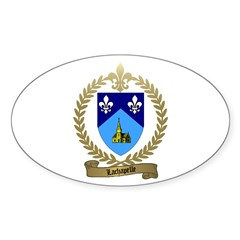 LACHAPELLE Family Crest Oval Decal