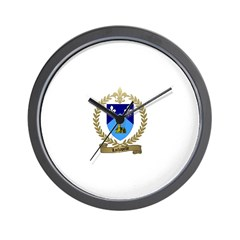 LACHAPELLE Family Crest Wall Clock