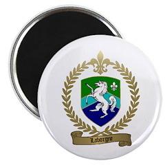 "LABORGNE Family Crest 2.25"" Magnet (10 pack)"