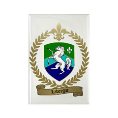LABORGNE Family Crest Rectangle Magnet
