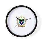LABORGNE Family Crest Wall Clock