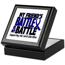 My Battle Too 1 BLUE (Female Friend) Keepsake Box