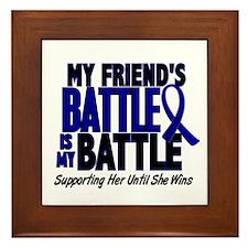 My Battle Too 1 BLUE (Female Friend) Framed Tile