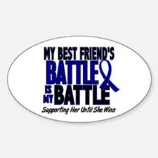 My Battle Too 1 BLUE (Female Best Friend) Decal