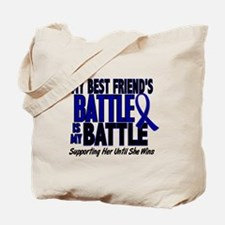 My Battle Too 1 BLUE (Female Best Friend) Tote Bag