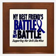 My Battle Too 1 BLUE (Female Best Friend) Framed T