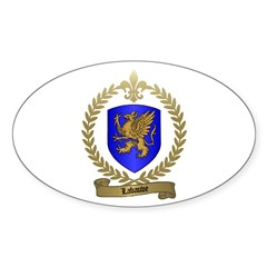LABAUVE Family Crest Oval Decal