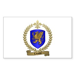 LABAUVE Family Crest Rectangle Decal