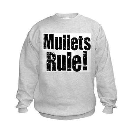 Mullets Rule! Kids Sweatshirt