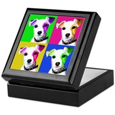 Jack Russell Pup Keepsake Box
