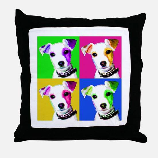 Jack Russell Pup Throw Pillow